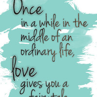 Love gives you a fairytale Art Print by Michelle | Society6
