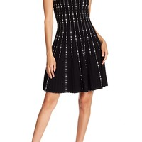 BCBGMAXAZRIA | Pleated Fit And Flare Dress | Nordstrom Rack
