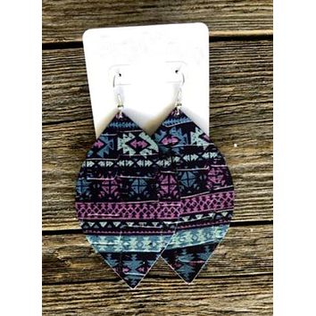 Aztec Handcrafted Leather Earrings