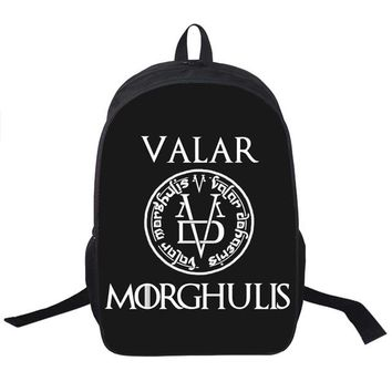 Toddler Backpack class Game Of Throne Backpack for Teenagers Girls Boys School Bags Valar Morghulis  16 Inch Stark Bagpack Laptop Women AT_50_3