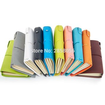 5color Soft cover vintage PU Leather Journal, Travel Notebook Binding Book