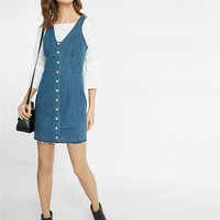 Denim Corset Button Dress