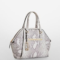 kenner snake embossed leather dome satchel | Calvin Klein