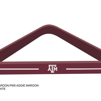 Texas A&M University Billiard Ball Triangle Rack