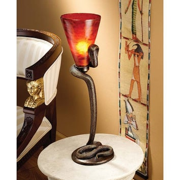 Uraeus Egyptian Cobra God Alter Lamp