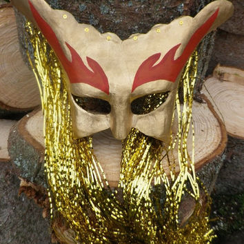 Sun God Mask for ritual, pagan costume, mystery plays and decoration
