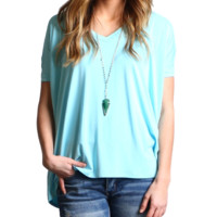 Limpet Shell Piko V-Neck Short Sleeve Top