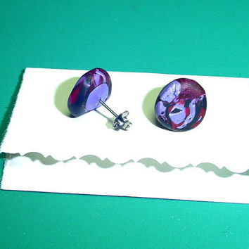 40 off SaleGothic Stud Earrings Vampire Eye by BrandonArtists