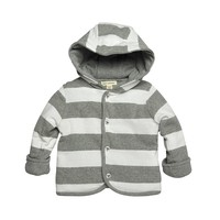 Burt's Bees Baby Organic Reversible Striped Hooded Jacket - Baby Boy, Size: