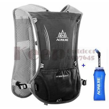 Running Vests Jogging AONIJIE 5L Men Women Outdoor Sports Running Backpack Trail Racing Marathon Hiking Bag Hydration Vest Pack 600ML Kettle KO_11_1