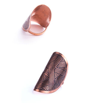 Fine Lines Ring - Copper