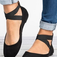 Women's Ankle Criss Cross Ballet Flats