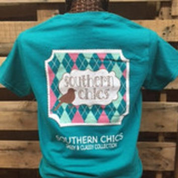 Southern Chics Sassy Classy Collection Preppy Bird Distressed Bright T Shirt