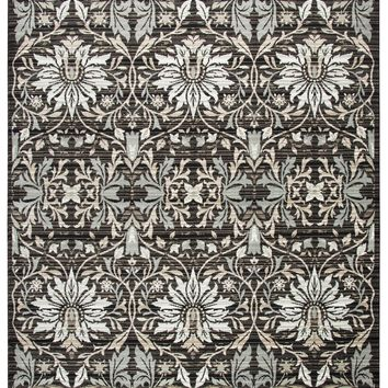 Rizzy Home Zenith ZH7083 Black Damask Area Rug