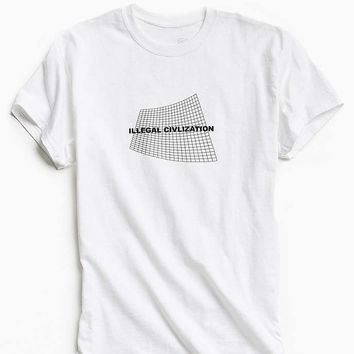 Illegal Civilization Grid Tee - Urban Outfitters
