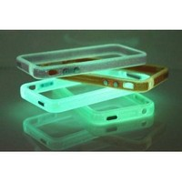 Amazon.com: Blue Translucent Glow in the Dark Premium Bumper Case for Apple iPhone 4: Everything Else