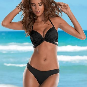 Black Beauty Wrap Around Push Up Top Bikini | VENUS