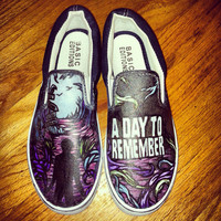 A Day to Remember hand painted shoes