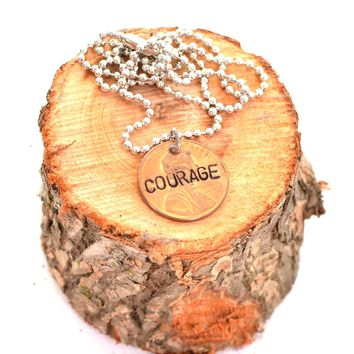 """""""Courage""""  Penny Necklace"""