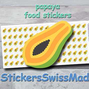 PLANNER STICKER || papaya || food || fruit || small colored icon | for your planner or bullet journal
