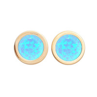 Mini Falls Forever Earrings (blue opal inlay)