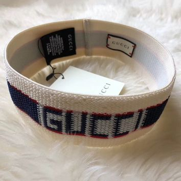 GUCCI Sport Crochet Fashion Knit Embroidery Headwrap Headband Head Hair Band