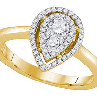 Diamond Fashion Ring in 14k Gold 0.39 ctw