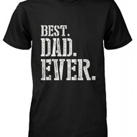 365 In Love Best Dad Ever Stencil Style T-Shirt - Father's Day Gift Idea