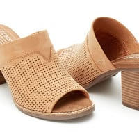 SANDSTORM NUBUCK PERFORATED WOMEN'S MAJORCA MULES