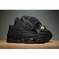 Air Jordan retro 13 black cat men women basketball shoes retro 13s sports Sneaker Athletics Shoes size 36-47