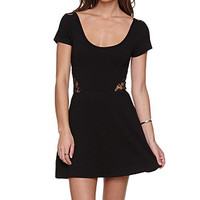 LA Hearts Lace Inset Fit N Flare Dress at PacSun.com