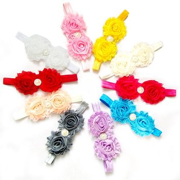 New Baby Toddler Lace Baby Headband Chic Flower Girls Headband Hair Bow Headwear Baby Girl Children Hair Accessories
