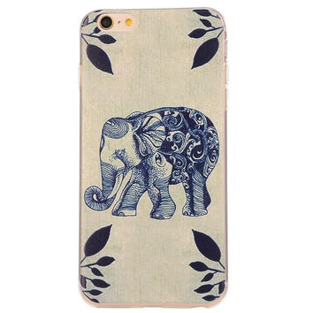 Creative Elephant Case Ultrathin Cover for iPhone 5se 5s 6s Plus Gift 42