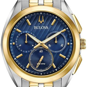 Bulova Two-Tone Stainess Steel Chronograph Watch 98A159