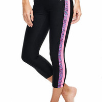 Side-Stripe Active Capri Pant