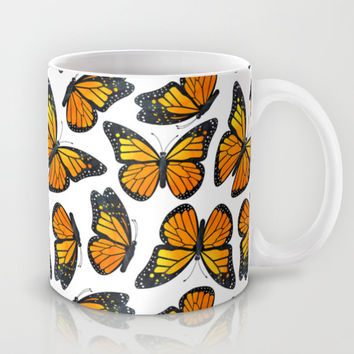 Monarch Butterfly Pattern Mug by Cute To Boot