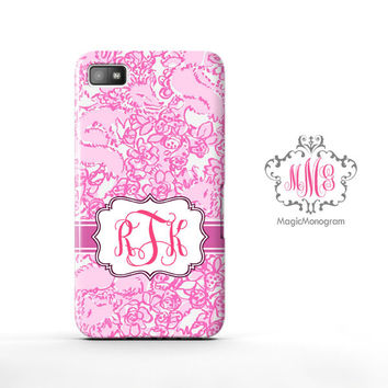 She is a Fox Lilly Pulitzer Monogram Blackberry Case Z10, BB Q10 Case