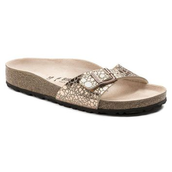Sale Birkenstock Madrid Birko Flor Metallic Stones Copper 1006693 Sandals
