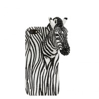 alice + olivia | JEWELED PHONE CASE ZEBRA