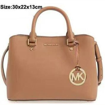MK Women Shopping Bag Leather Tote Satchel Shoulder Bag Handbag Crossbody