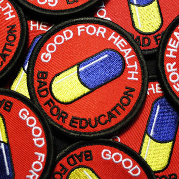 Good for health Bad for education - anime akira kaneda patch cosplay