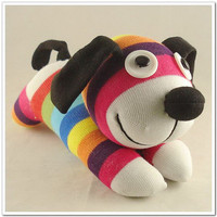 Free Shipping Handmade Sock Dog Stuffed Animal Doll Baby Toys
