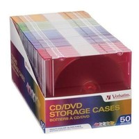 LMFMS9 Color Cd Dvd Slim Cases 50pk