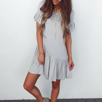 RESTOCK: Stay Comfy Dress: Grey