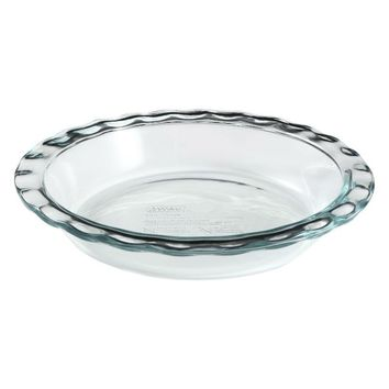 Pyrex® 1085800 Easy Grab™ Glass Pie Plate, 9.5""