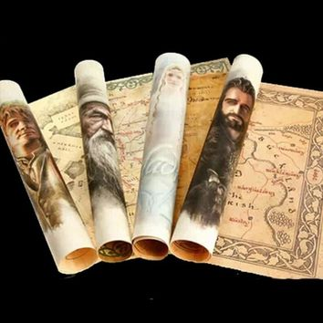 2018 new hot high quality Map Hobbit 3 film surrounding thematic cosplay props maps Kit middle-earth The Lord of the Rings mapa