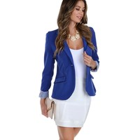 Royal Striped Boyfriend Blazer