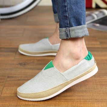 Mens Comfortable Slip-On Loafer Sneakers