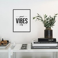 Nordic Minimalist Black White Typography Motivational Life Quotes  Big Art Print Poster Wall Picture Canvas Painting Home Decor