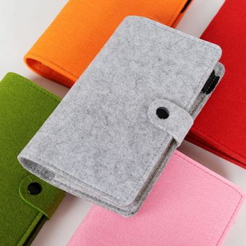 A5 A6 vintage loose leaf refillable wool felt spiral Weekly Planner notebook filofax memo travel journal diary notepad